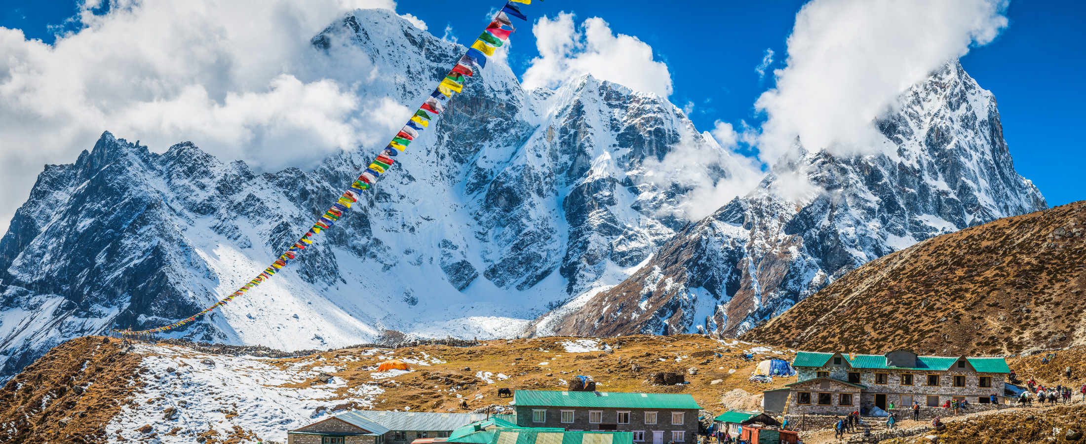 Trek to the base camp of Mt Everest