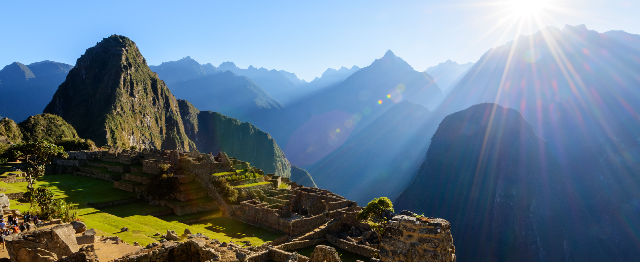View from the top of Machu Picchu