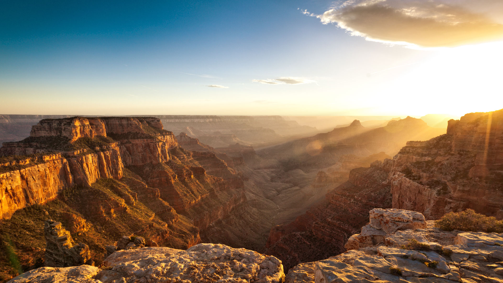 grand canyon tour on sunset