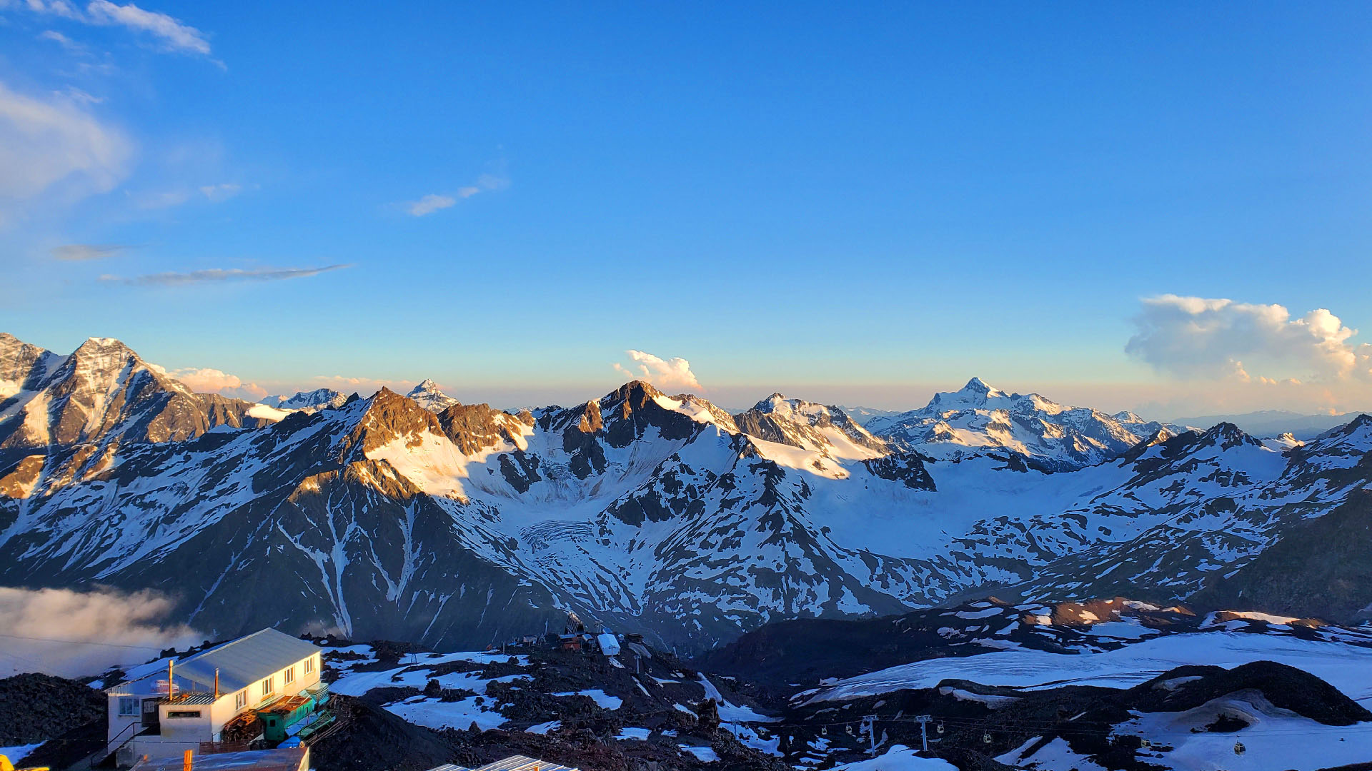 Panoramic photo of Mt. Elbrus