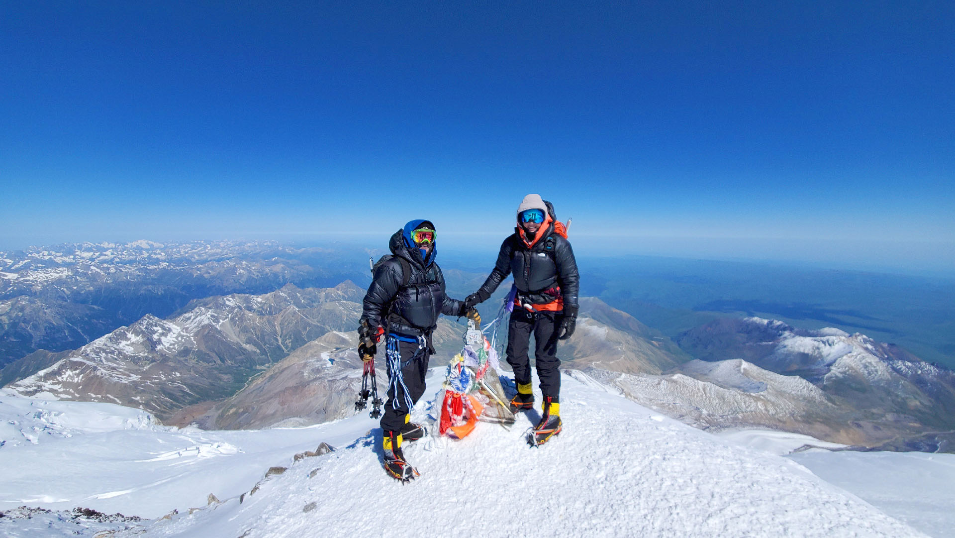 K2 Standing at the summit of Mt. Elbrus